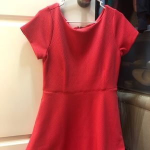 Cap Sleeve Salmon Colored Dress